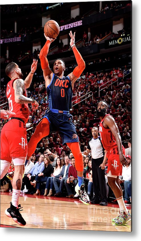 Nba Pro Basketball Metal Print featuring the photograph Russell Westbrook by Bill Baptist