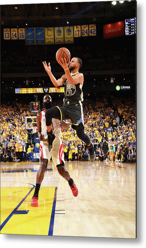 Toddler Metal Print featuring the photograph Stephen Curry by Andrew D. Bernstein