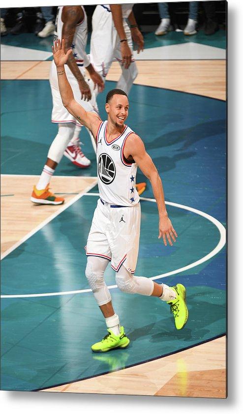 Nba Pro Basketball Metal Print featuring the photograph Stephen Curry by Garrett Ellwood