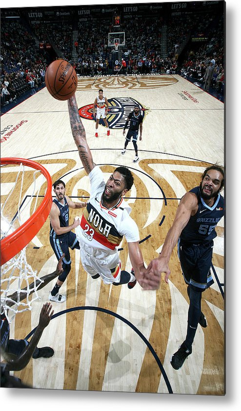 Smoothie King Center Metal Print featuring the photograph Anthony Davis by Layne Murdoch Jr.