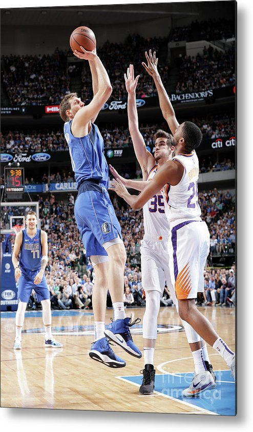 Nba Pro Basketball Metal Print featuring the photograph Dirk Nowitzki by Glenn James