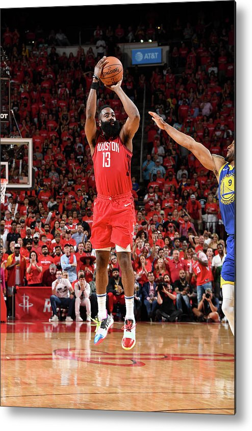 Playoffs Metal Print featuring the photograph James Harden by Andrew D. Bernstein
