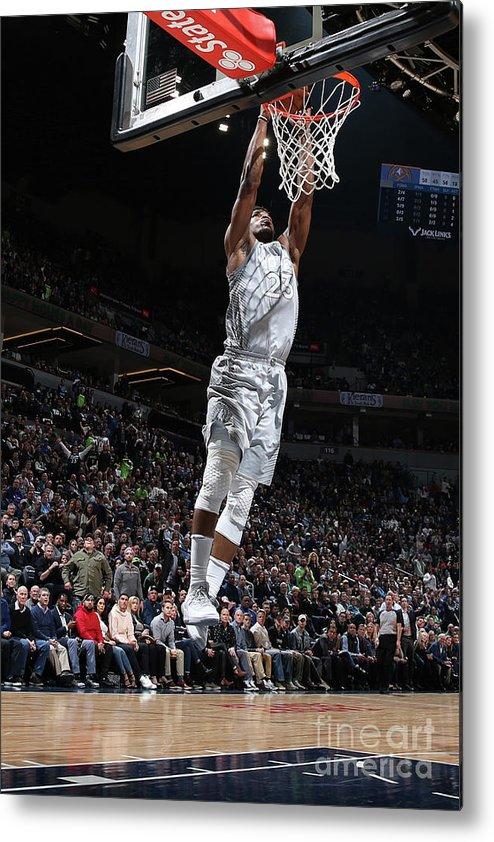 Nba Pro Basketball Metal Print featuring the photograph Jimmy Butler by David Sherman