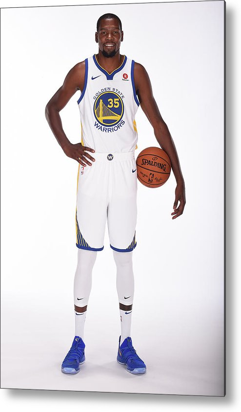 Media Day Metal Print featuring the photograph Kevin Durant by Noah Graham