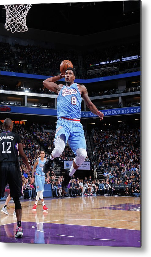 Nba Pro Basketball Metal Print featuring the photograph Rudy Gay by Rocky Widner