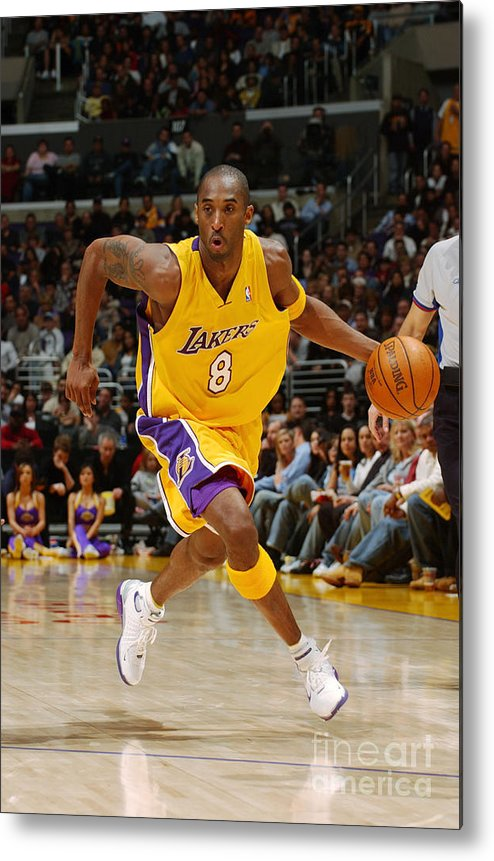 Upcourt Metal Print featuring the photograph Kobe Bryant by Noah Graham