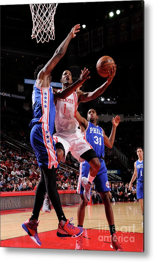 Nba Pro Basketball Metal Print featuring the photograph Trevor Ariza by Bill Baptist
