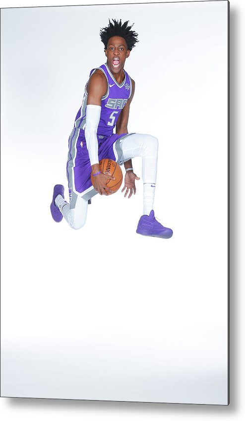 Media Day Metal Print featuring the photograph De'aaron Fox by Rocky Widner