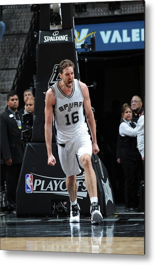 Game Two Metal Print featuring the photograph Pau Gasol by Mark Sobhani