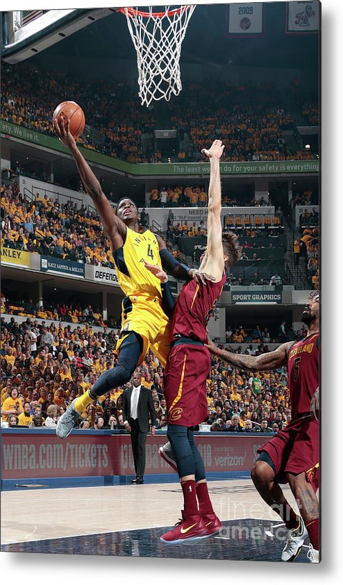 Playoffs Metal Print featuring the photograph Victor Oladipo by Ron Hoskins