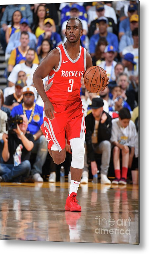 Nba Pro Basketball Metal Print featuring the photograph Chris Paul by Andrew D. Bernstein