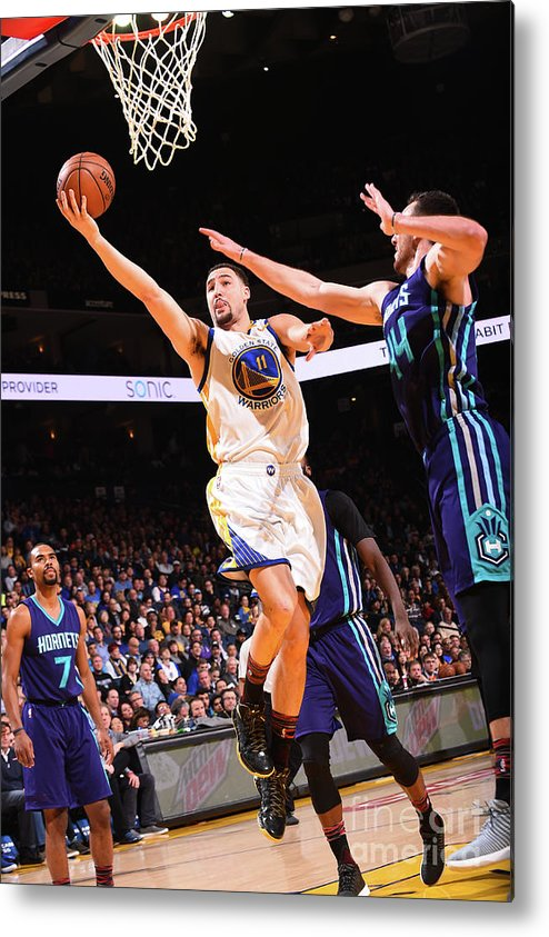 Nba Pro Basketball Metal Print featuring the photograph Klay Thompson by Noah Graham