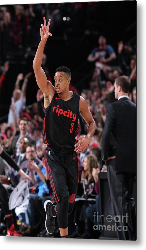 Nba Pro Basketball Metal Print featuring the photograph C.j. Mccollum by Sam Forencich