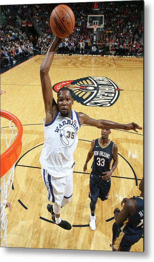 Smoothie King Center Metal Print featuring the photograph Kevin Durant by Layne Murdoch