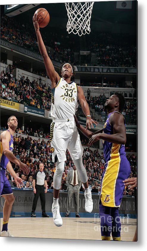 Sports Ball Metal Print featuring the photograph Myles Turner by Ron Hoskins