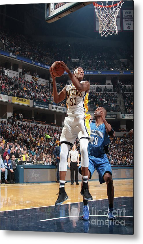 Nba Pro Basketball Metal Print featuring the photograph Myles Turner by Ron Hoskins