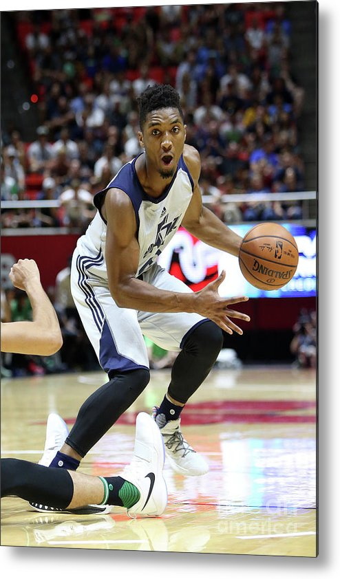 Nba Pro Basketball Metal Print featuring the photograph Donovan Mitchell by Melissa Majchrzak