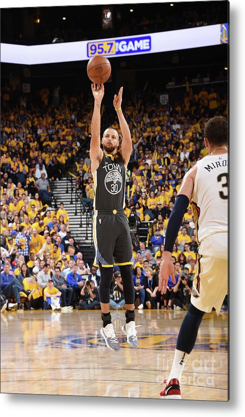 Playoffs Metal Print featuring the photograph Stephen Curry by Andrew D. Bernstein