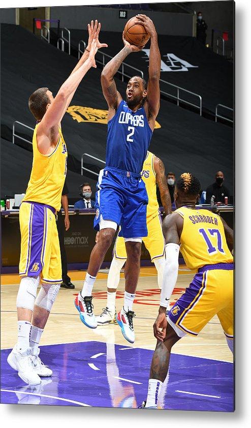 Nba Pro Basketball Metal Print featuring the photograph Kawhi Leonard by Andrew D. Bernstein