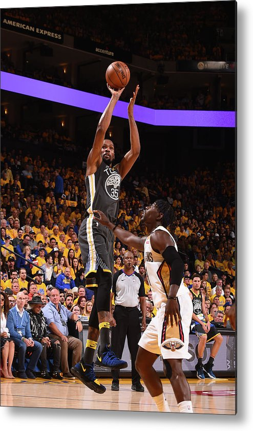 Playoffs Metal Print featuring the photograph Kevin Durant by Noah Graham