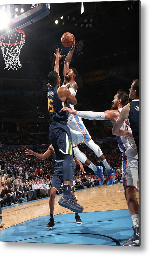 Nba Pro Basketball Metal Print featuring the photograph Paul George by Layne Murdoch