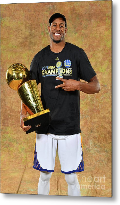Playoffs Metal Print featuring the photograph Andre Iguodala by Jesse D. Garrabrant