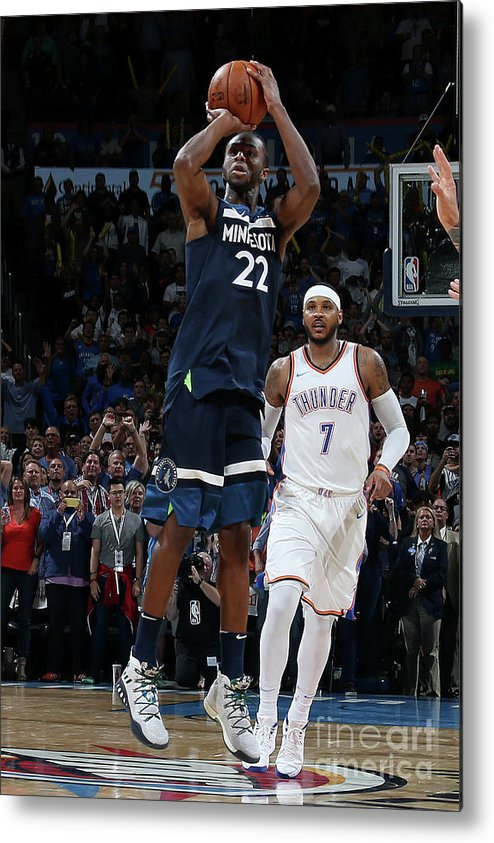 Nba Pro Basketball Metal Print featuring the photograph Andrew Wiggins by Layne Murdoch