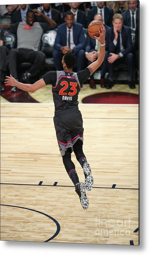 Smoothie King Center Metal Print featuring the photograph Anthony Davis by Joe Murphy