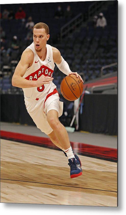 Nba Pro Basketball Metal Print featuring the photograph Boston Celtics v Toronto Raptors by Scott Audette