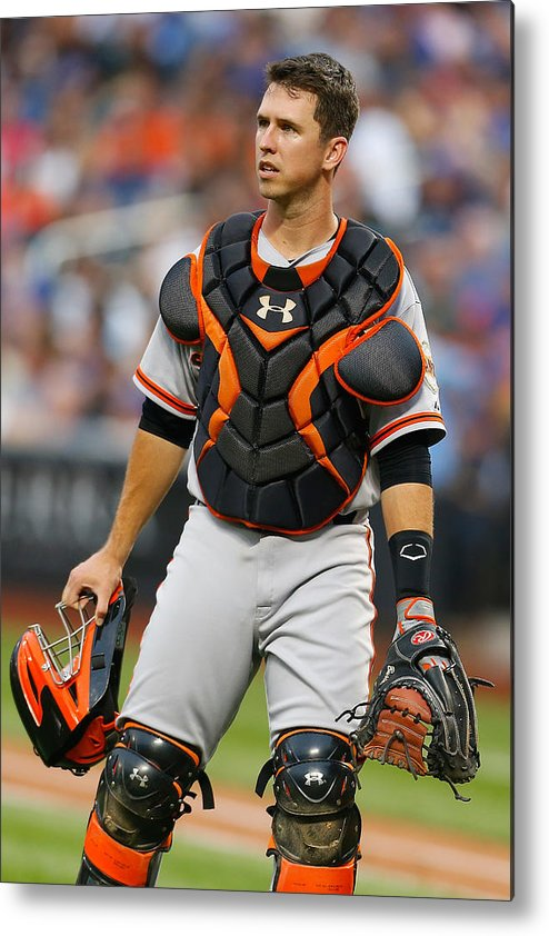 American League Baseball Metal Print featuring the photograph Buster Posey by Mike Stobe