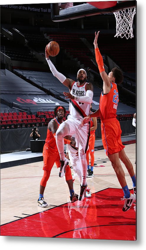 Nba Pro Basketball Metal Print featuring the photograph Carmelo Anthony by Sam Forencich