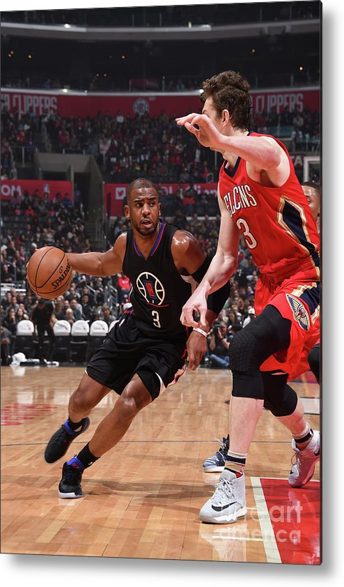 Nba Pro Basketball Metal Print featuring the photograph Chris Paul by Adam Pantozzi