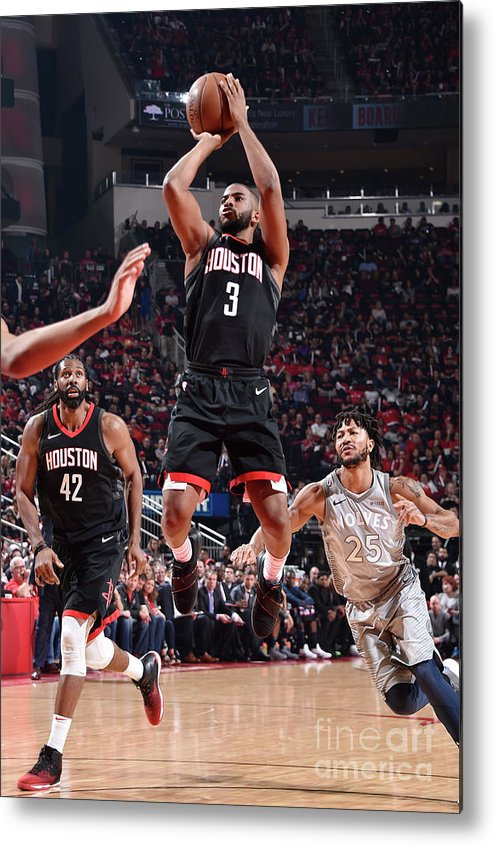 Playoffs Metal Print featuring the photograph Chris Paul by Bill Baptist