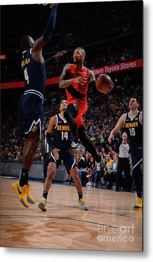 Playoffs Metal Print featuring the photograph Damian Lillard by Bart Young