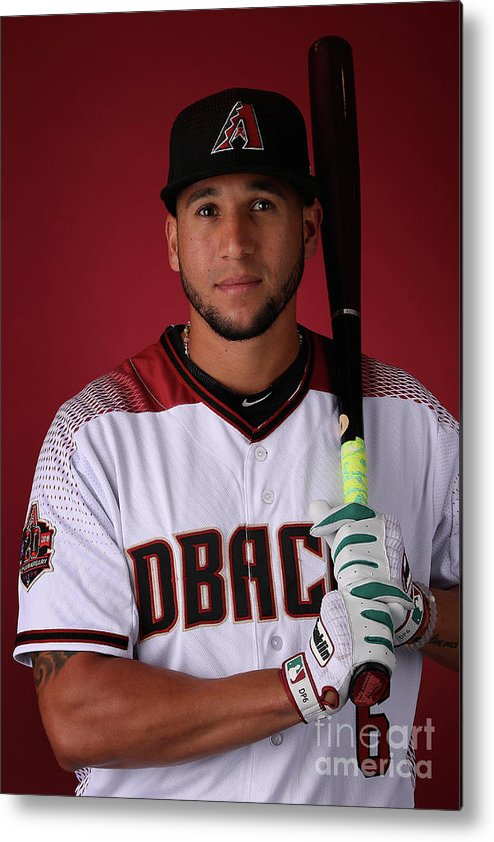Media Day Metal Print featuring the photograph David Peralta by Christian Petersen