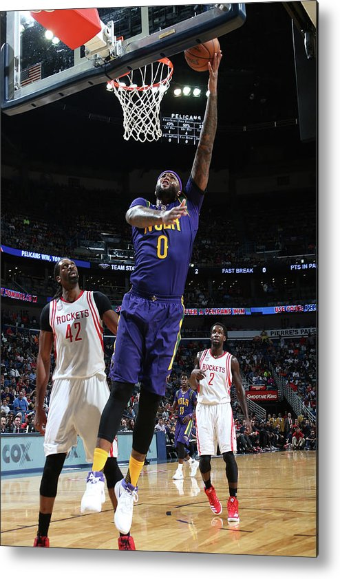 Smoothie King Center Metal Print featuring the photograph Demarcus Cousins by Layne Murdoch