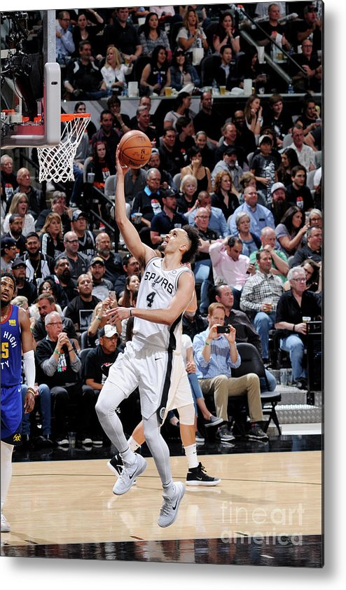 Playoffs Metal Print featuring the photograph Derrick White by Mark Sobhani