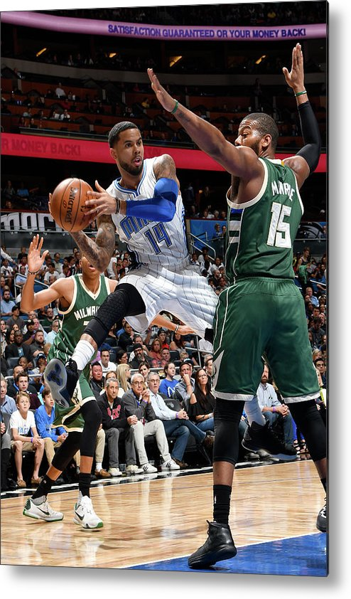 Nba Pro Basketball Metal Print featuring the photograph D.j. Augustin by Fernando Medina