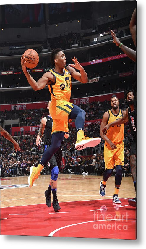 Nba Pro Basketball Metal Print featuring the photograph Donovan Mitchell by Andrew D. Bernstein