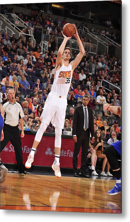 Nba Pro Basketball Metal Print featuring the photograph Dragan Bender by Barry Gossage