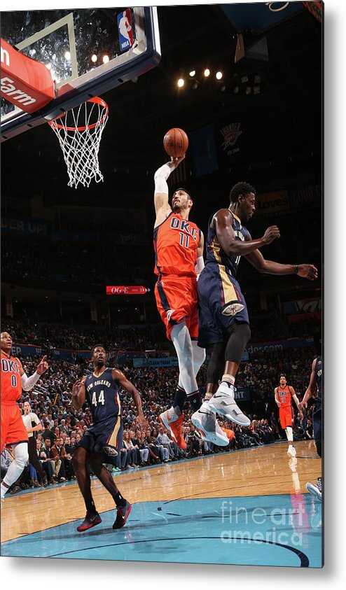Nba Pro Basketball Metal Print featuring the photograph Enes Kanter by Layne Murdoch