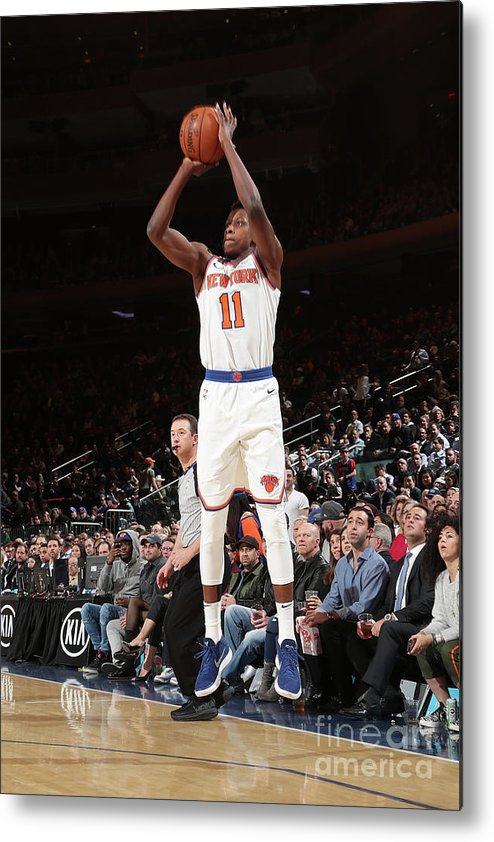 Sports Ball Metal Print featuring the photograph Frank Ntilikina by Nathaniel S. Butler