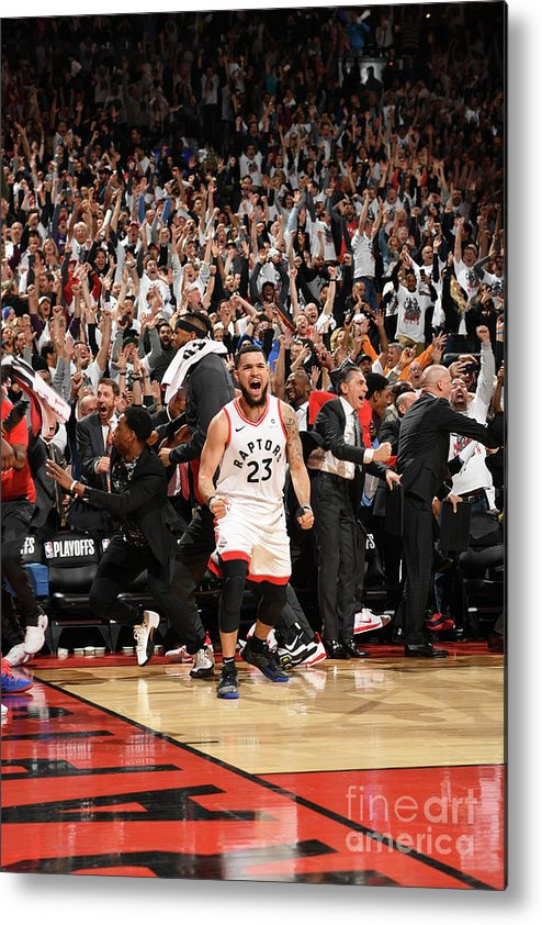 Playoffs Metal Print featuring the photograph Fred Vanvleet by Ron Turenne