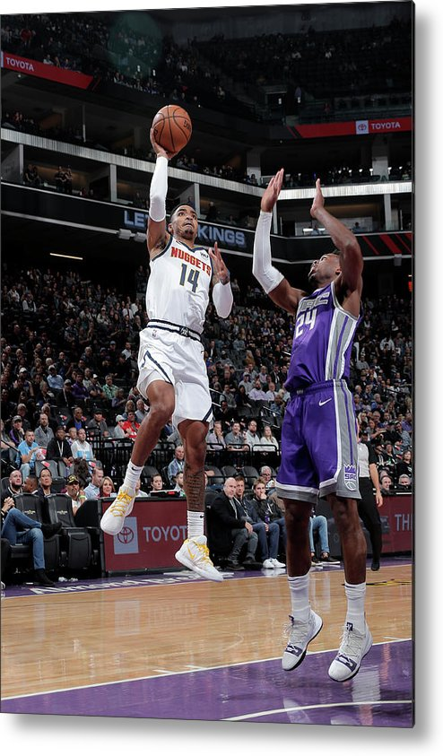Nba Pro Basketball Metal Print featuring the photograph Gary Harris by Rocky Widner