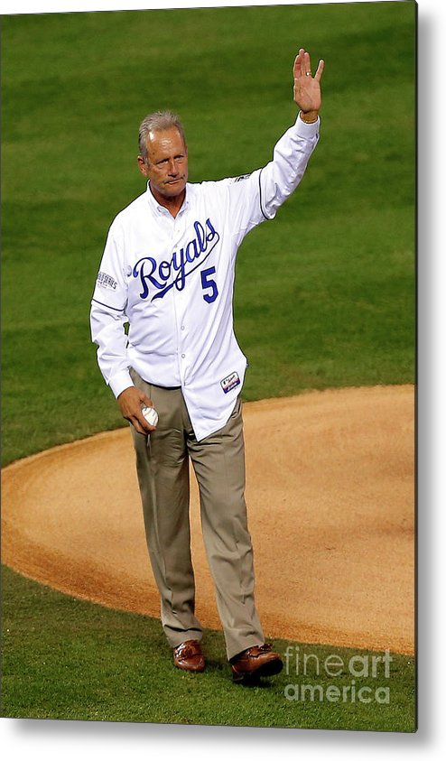 Game Two Metal Print featuring the photograph George Brett by Ed Zurga