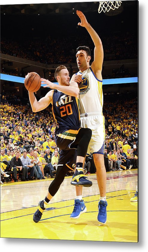 Playoffs Metal Print featuring the photograph Gordon Hayward by Andrew D. Bernstein