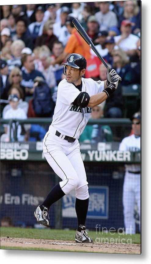 American League Baseball Metal Print featuring the photograph Ichiro Suzuki by Otto Greule Jr