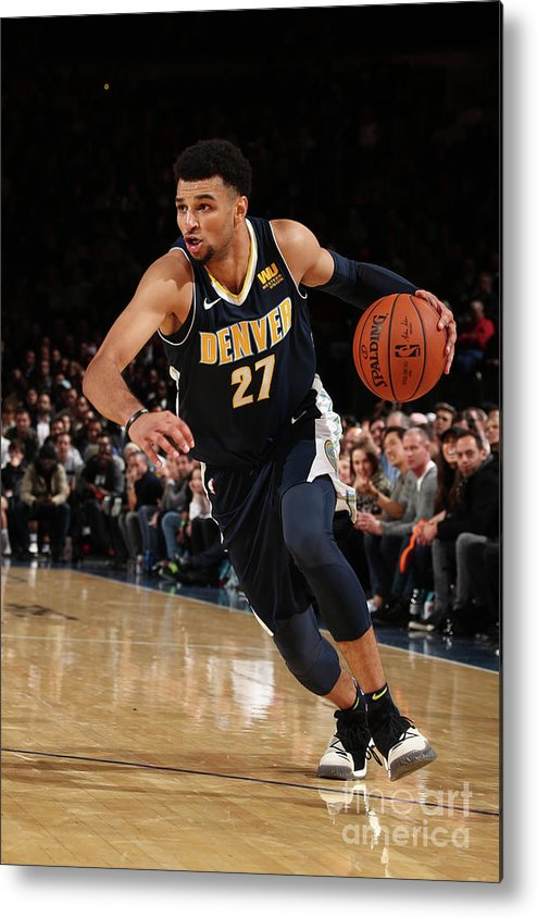 Nba Pro Basketball Metal Print featuring the photograph Jamal Murray by Nathaniel S. Butler