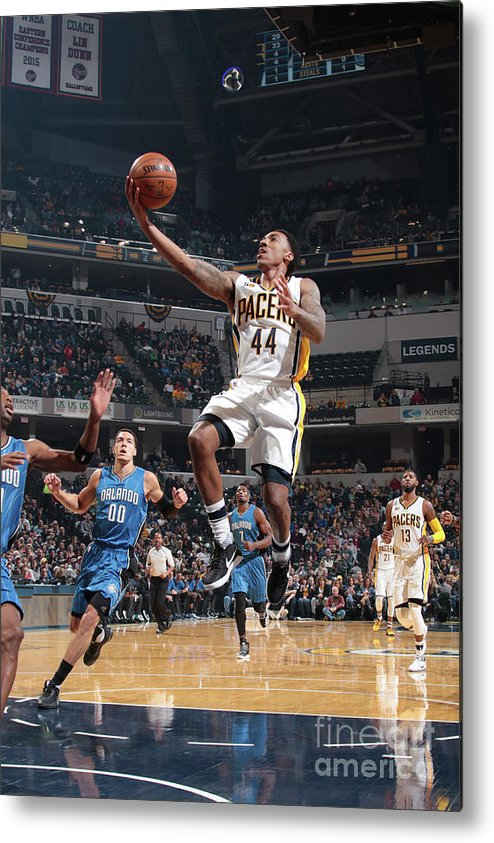 Nba Pro Basketball Metal Print featuring the photograph Jeff Teague by Ron Hoskins