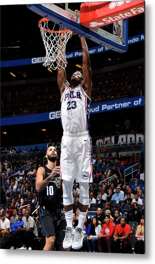 Nba Pro Basketball Metal Print featuring the photograph Jimmy Butler by Gary Bassing